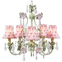 Daisy Pearl 5 Arm Flower Garden Chandelier, Nursery Lighting | Kids Floor Lamps | ABaby.com