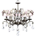 Elegance Rose 5 Arm Chandelier, Nursery Lighting | Kids Floor Lamps | ABaby.com