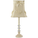 Ivory Floral Bouquet Lamp,