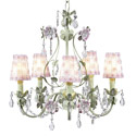 Pink and Green 5 Arm Flower Garden Chandelier, Nursery Lighting | Kids Floor Lamps | ABaby.com