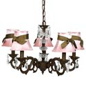 Mocha Sash 5 Arm Chandelier, Nursery Lighting | Kids Floor Lamps | ABaby.com