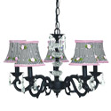 Pink Rosebud Glass Turret Chandelier, Nursery Lighting | Kids Floor Lamps | ABaby.com