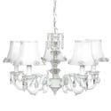 White Glass Turret Chandelier, Chandeliers for Kids Rooms & Nursery | Mini Chandelier | aBaby.com