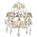Ivory Rose Ballroom Chandelier, Nursery Lighting | Kids Floor Lamps | ABaby.com