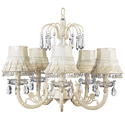 Ivory Skirt Dangle Waterfall Chandelier , Chandeliers for Kids Rooms & Nursery | Mini Chandelier | aBaby.com