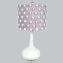 Lavender Pom-Pom Squash Lamp, Baby Nursery Lamps | Childrens Floor Lamps | ABaby.com