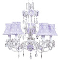 Lavender Flower Garden Chandelier, Nursery Lighting | Kids Floor Lamps | ABaby.com