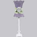 Lavender Hourglass Rose Lamp,