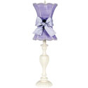 Lavender Scallop Hourglass Lamp, Baby Nursery Lamps | Childrens Floor Lamps | ABaby.com