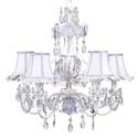 Lavender 'n White Floral Chandelier, Nursery Lighting | Kids Floor Lamps | ABaby.com