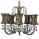 Mocha Leopard Chandelier, Nursery Lighting | Kids Floor Lamps | ABaby.com