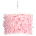 Pink Feather Pendant Light, Pendant Light | Drum Pendant Lighting | ABaby.com