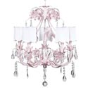 Pink Ballroom 5 Arm Chandelier, Nursery Lighting | Kids Floor Lamps | ABaby.com