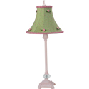 Gingham Rosebud Lamp,