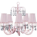 Pink Pearl Flower Waterfall Chandelier, Nursery Lighting | Kids Floor Lamps | ABaby.com