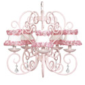 Pink Rose Trim Carriage Chandelier, Chandeliers for Kids Rooms & Nursery | Mini Chandelier | aBaby.com