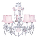 White 'n Pink  Flower Garden Chandelier, Chandeliers for Kids Rooms & Nursery | Mini Chandelier | aBaby.com