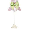 Pink 'n White Scallop Lamp ,