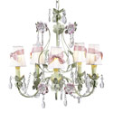 Pink Bow Flower Garden Chandelier, Chandeliers for Kids Rooms & Nursery | Mini Chandelier | aBaby.com