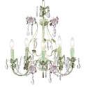 Pink 'n Green 5 Arm Flower Garden Chandelier, Nursery Lighting | Kids Floor Lamps | ABaby.com