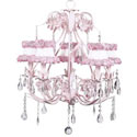 Rose Ballroom 5 Arm Chandelier, Nursery Lighting | Kids Floor Lamps | ABaby.com