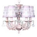 Pink Petal 5 Arm Chandelier, Nursery Lighting | Kids Floor Lamps | ABaby.com