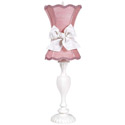 Pink Scallop Hourglass Lamp,