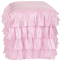 Ruffled Vanity Stool Ottoman, Kids Chairs | Personalized Kids Chairs | Comfy | ABaby.com