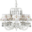 White Floral Chandelier, Nursery Lighting | Kids Floor Lamps | ABaby.com