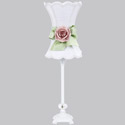 Hourglass Rose Lamp,