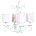 4 Arm Harp Scallop Chandelier, Nursery Lighting | Kids Floor Lamps | ABaby.com