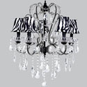 Zebra Beaded Crystal Chandelier, African Safari Themed Nursery | African Safari Bedding | ABaby.com