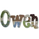 Owen's Jungle Wall Letter, African Safari Themed Nursery | African Safari Bedding | ABaby.com