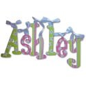 Ashley's Daisies Wall Letters, Wall Letter Decals | Custom Baby Name Letters for Nursery Wall