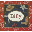 Billy the Kid Canvas Art, Wild West, Western, Cowboy Themed Furniture, Decor For Childrens Rooms and Baby's Nursery.