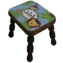 Zambia Alder Step Stool, African Safari Themed Nursery | African Safari Bedding | ABaby.com