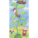 Jack And The Bean Stalk Stretched Art, Kids Nursery Canvas Wall Art - Ababy.Com