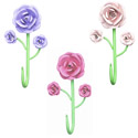 3 Rose Hooks, Decorative Hooks,  Decorative Wall Hook | ABaby.com