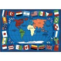 Flags of the World Rug, Novelty Rugs | Cheap Personalized Area Rugs | ABaby.com