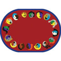 Joyful Faces Rug, Novelty Rugs | Cheap Personalized Area Rugs | ABaby.com