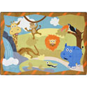 Jungle Babies Rug, African Safari Themed Nursery | African Safari Bedding | ABaby.com