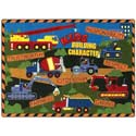 Kids Building Character Rug, Train And Cars Themed Nursery | Train Bedding | ABaby.com