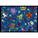 Mythical Kingdom Rug, Princess Themed Nursery | Girls Princess Bedding | ABaby.com