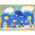 Sea Babies Rug, Kids Playroom Area Rugs | Bedroom Rugs | Carpet | aBaby.com
