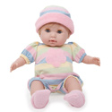 Huggable Soft Body Blonde Doll, Baby Doll Furniture Set | Doll Beds | High Chair | Cradle | Armoire