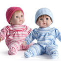 Huggable and Lovable Twin Dolls, Baby Doll Furniture Set | Doll Beds | High Chair | Cradle | Armoire