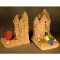 Sand Castle Bookends, Surfs Up Nursery Decor | Surfs Up Wall Decals | ABaby.com