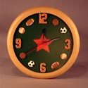 Sports Clock, Sports Nursery Decor | Sports Wall Decals | ABaby.com