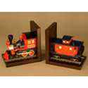Train Bookends, Train And Cars Themed Nursery | Train Bedding | ABaby.com