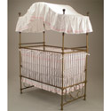 Scroll Splendor Iron Canopy Crib, Antique Baby Crib | Cradle | Designer Convertible Cribs | ABaby.com